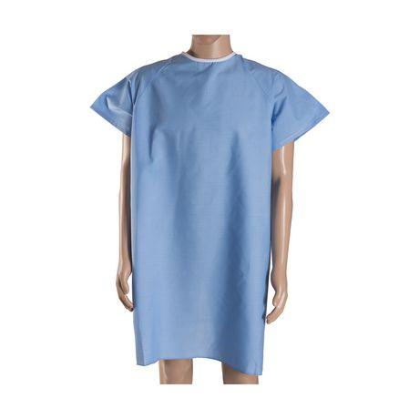 Robe de convalescence DMI avec attaches arrière en ruban - image 1 de 4