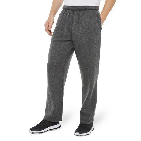 Athletic Works Mens Open Bottom Fleece Pants