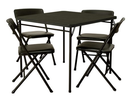 cosco 5 piece folding table and chair set. Black Bedroom Furniture Sets. Home Design Ideas