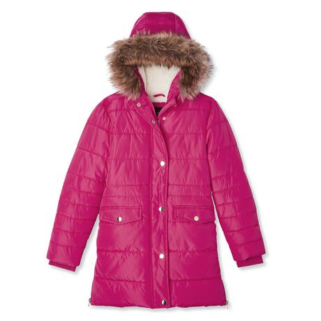 George Girls' Long Puffer Jacket - image 1 of 2