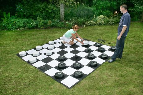 Garden Games Giant Lawn Checkers with Mat Walmart Canada