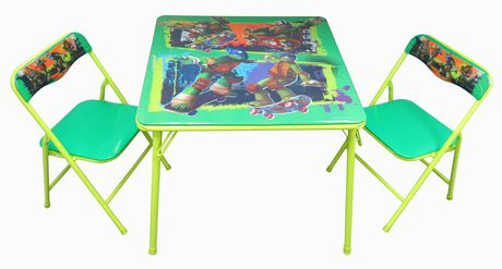 Tmnt Activity Table And Chairs Set Walmart Canada