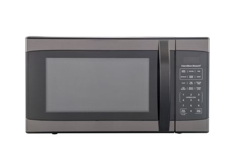Hamilton Beach 1.1 cu ft Black Stainless Steel Microwave