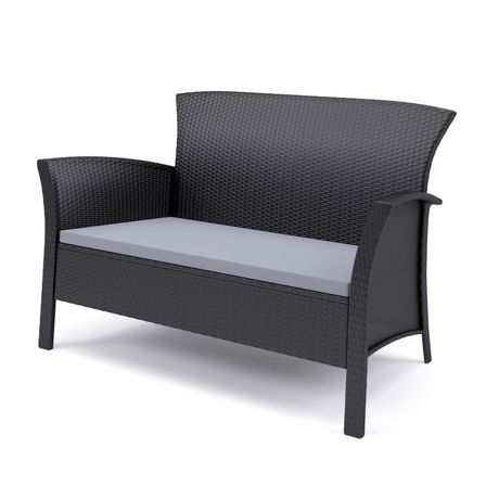 CorLiving 4pc Black Rope Weave Cascade Patio Set - image 3 of 6