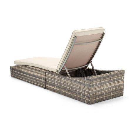 chaise longue pliante monaco de hometrends en osier walmart canada. Black Bedroom Furniture Sets. Home Design Ideas