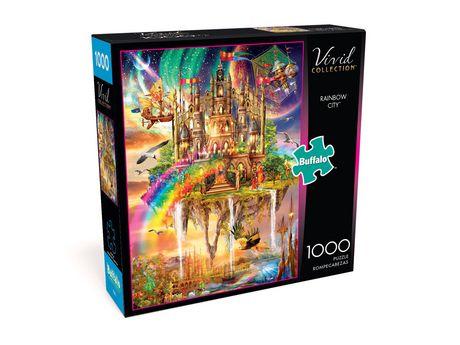 Buffalo Games Vivid Collection Le puzzle Rainbow City en 1000 pièces - image 3 de 3