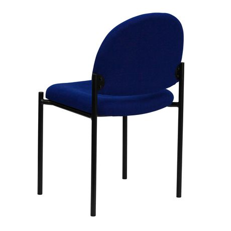 Comfort Navy Fabric Stackable Steel Side Reception Chair - image 3 of 4