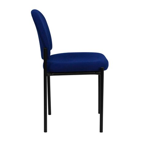 Comfort Navy Fabric Stackable Steel Side Reception Chair - image 4 of 4