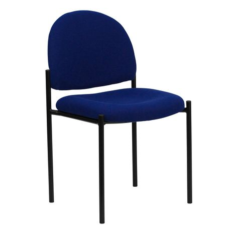 Comfort Navy Fabric Stackable Steel Side Reception Chair - image 1 of 4