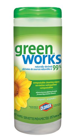 Green Works Naturally-Derived Biodegradable Cleaning Wipes, Original, 30 Count - image 1 of 6