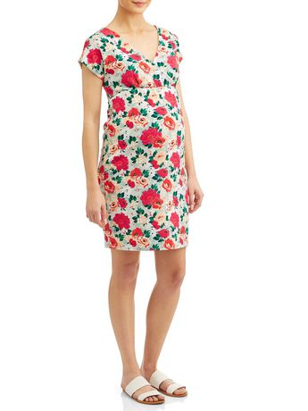 7f6f6f0e02d94 Maxi Belted Nursing Dress - image 1 of 3 ...