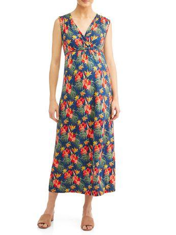 d85b2bbf3eef1 Waist Tie Nursing Nursing Maxi Dress - image 1 of 3 ...