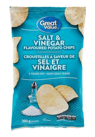 Great Value Salt & Vinegar Flavoured Potato Chips - image 1 of 2