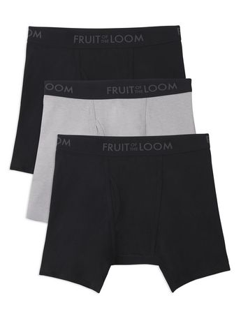 fruit of the loom men s breathable boxer brief 3 pack walmart canada