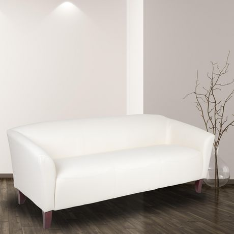 HERCULES Imperial Series White Leather Sofa - image 2 of 2