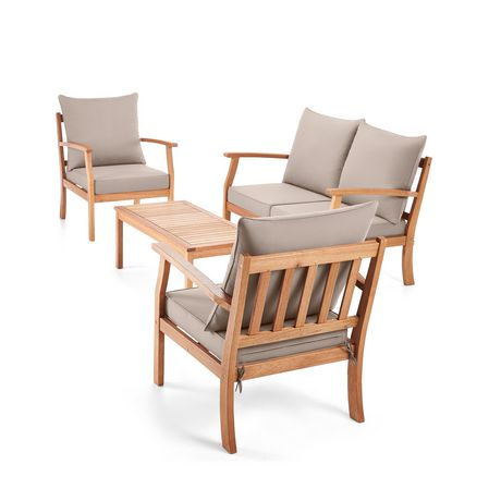 Hometrends Havana 4 Piece Wood Conversation Set Walmart