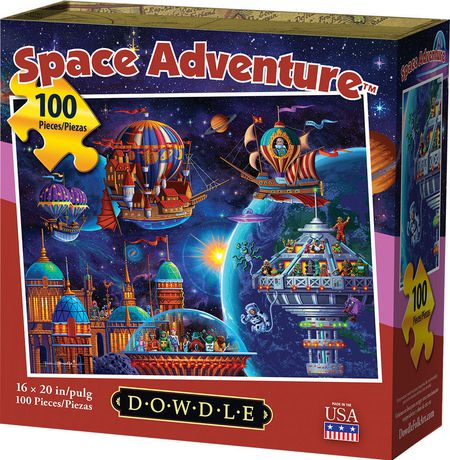 Dowdle Jigsaw Puzzle - Space Adventure - 100 Piece - image 1 of 3