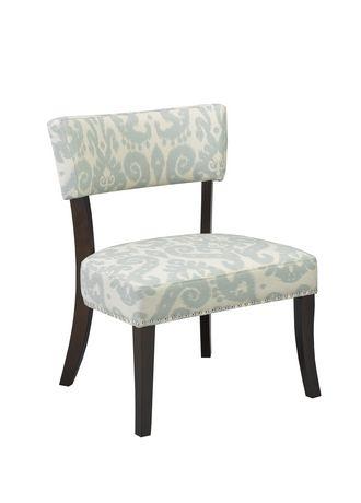 Brassex Accent Chair Blue Cream Walmart Ca