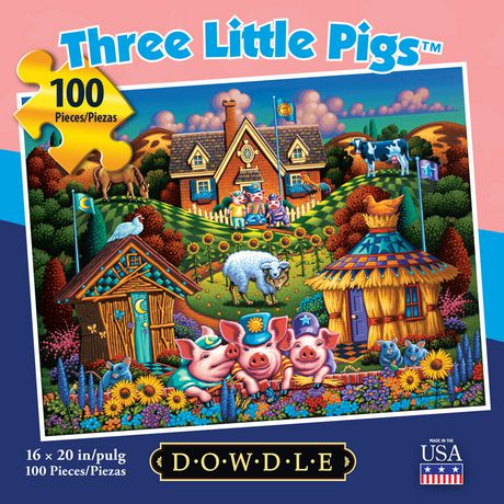 Dowdle Jigsaw Puzzle - Three Little Pigs - 100 Piece - image 3 of 3