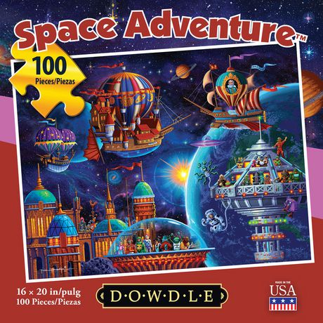 Dowdle Jigsaw Puzzle - Space Adventure - 100 Piece - image 3 of 3