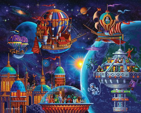 Dowdle Jigsaw Puzzle - Space Adventure - 100 Piece - image 2 of 3