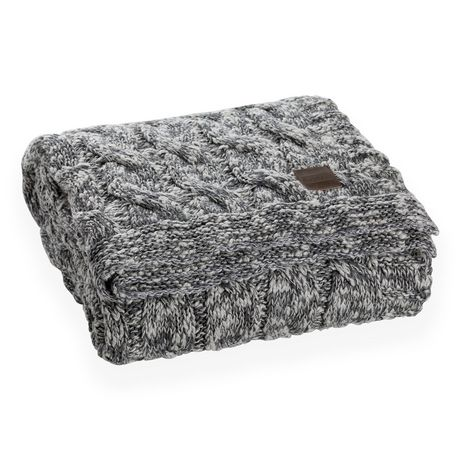 South Shore Lodge Gray Cable Knit Throw Blanket Walmart