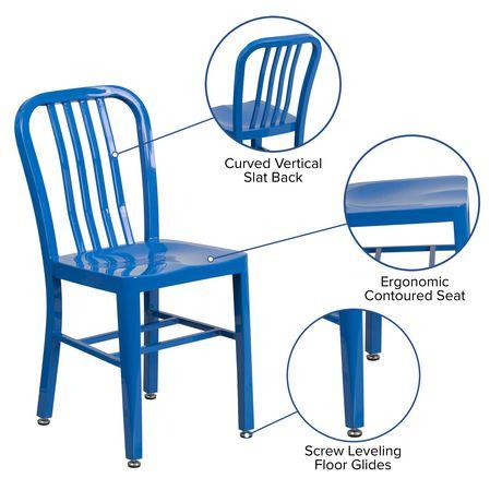 Blue Metal Indoor-Outdoor Chair - image 5 of 6