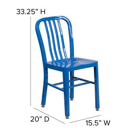 Blue Metal Indoor-Outdoor Chair - image 6 of 6