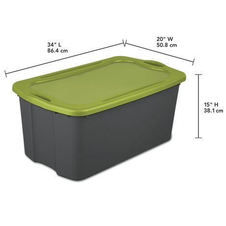 Sterilite Boîte de rangement EZ 113L- Vert- 4PK - image 3 de 3