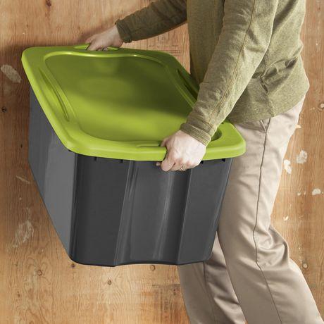 Sterilite Boîte de rangement EZ 113L- Vert- 4PK - image 2 de 3