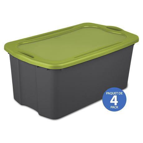 Sterilite Boîte de rangement EZ 113L- Vert- 4PK - image 1 de 3