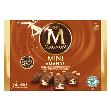 magnum mini almond belgian chocolate ice cream bars 4x55 ml. Black Bedroom Furniture Sets. Home Design Ideas