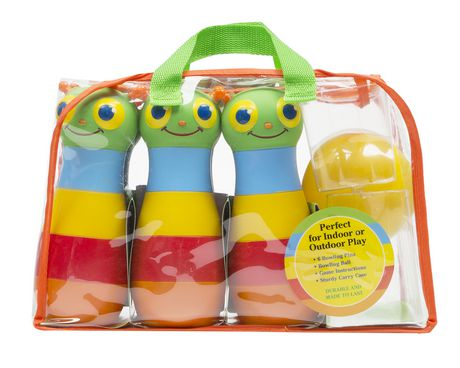 Melissa & Doug Sunny Patch Happy Giddy Bowling Set with 6 Pins, Bowling Ball, And Storage Bag - image 2 of 4