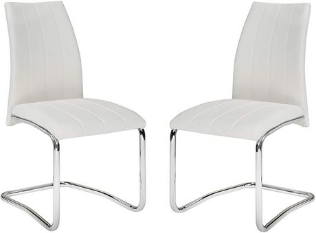 K-Living NAPA Dining Chairs in White (Set of 2) - image 1 of 2