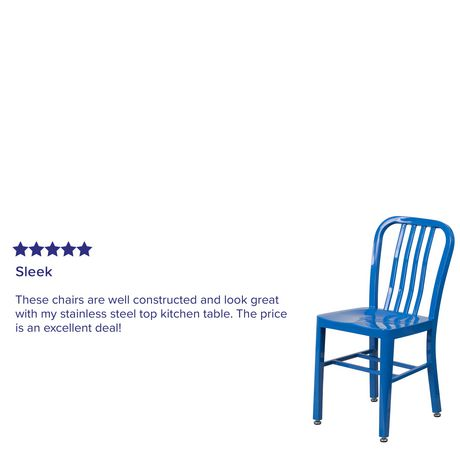 Chaise pour l'intérieur et l'extérieur en métal bleu - image 4 de 4