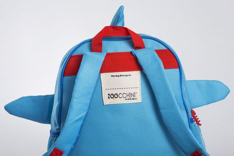 "Zoocchini Toddler Child Backpack 13"" Daycare School Bag Sherman the Shark - image 6 of 9"