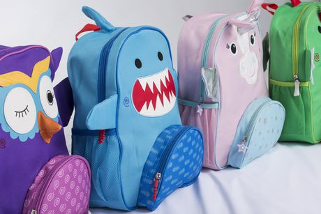 "Zoocchini Toddler Child Backpack 13"" Daycare School Bag Sherman the Shark - image 8 of 9"