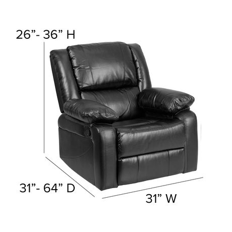 Harmony Series Black Leather Recliner - image 4 of 5