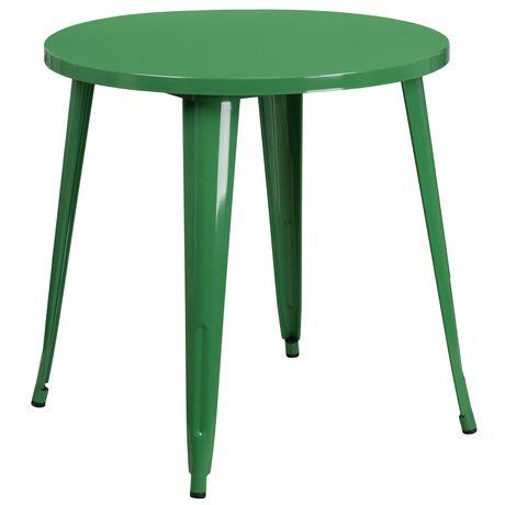 Table intérieure-extérieure en métal noir ronde de 30 pouces - image 1 de 1