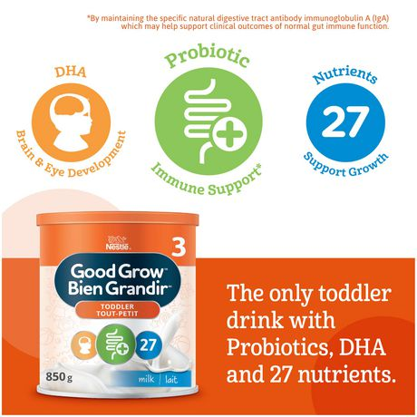 NESTLÉ GOOD GROW Stage 3 Nutritional Toddler Drink Milk Flavour - image 4 of 9