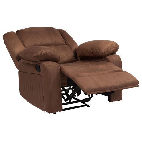 Harmony Series Chocolate Brown Microfiber Recliner - image 4 of 5