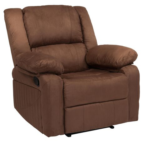 Harmony Series Chocolate Brown Microfiber Recliner - image 1 of 5