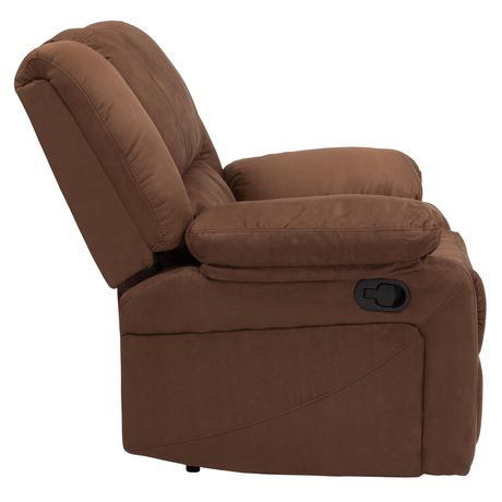 Harmony Series Chocolate Brown Microfiber Recliner - image 5 of 5
