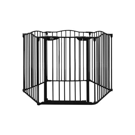 Bily Contoured Top Metal Superyard Black Barrier - image 1 of 4