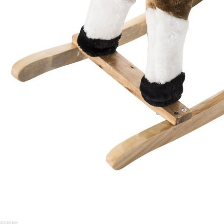 Qaba Kids Plush Brown Rocking Horse w/ Realistic Sounds - image 5 of 5