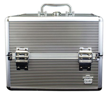 Caboodles 11.5 Inches Silver Goddess Cosmetic Train Case - 4 Tray - image 1 of 2