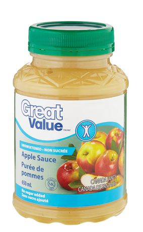 Great Value Unsweetened Apple Sauce - image 1 of 2