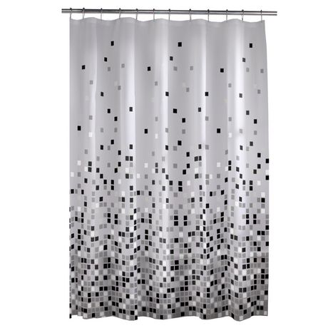 mainstays matrix peva shower curtain | walmart canada