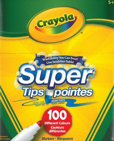 Crayola Super Tips Washable Markers Multi Coloured