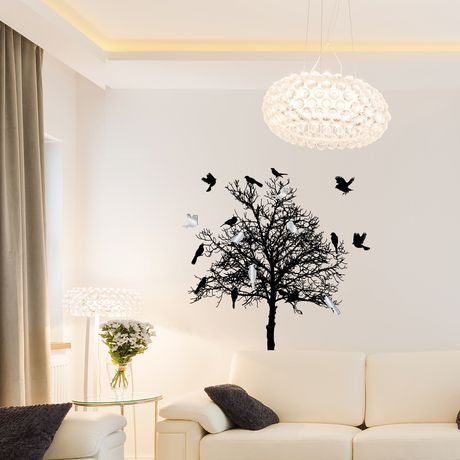 artissimo designs birds & tree wall decal - 36w x 44h | walmart canada